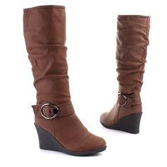 Damen Stiefel Braun (ZH310-L): Amazon.de: Schuhe & Handtaschen