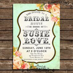 Printable Bridal Shower Invitation Digital by Cloud9Factory, $18.00