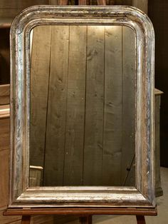 19th century silver leaf Louis Philippe mirror 2018 Interior Design Trends, French Mirror, Living Room Inspiration, French Antiques, 19th Century, Leaves, Frame, Living Rooms, Silver