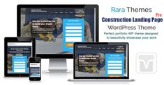 Construction Landing Page Pro is a business-focused WordPress theme designed for building, construction companies. // Construction Landing Pages // Building Website Templates // Plumbing Website Templates // Masonry WordPress Themes // Construction Companies, Construction Business, Wordpress Theme Design, Best Wordpress Themes, Building A Website, Build Your Dream Home, Website Template, Plumbing, Landing
