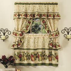 Apple Orchard Cottage Kitchen Curtain Set