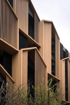 Gallery of HACHI Serviced Apartment / Octane architect & design – 3 – Architecture Bangkok, Architecture Résidentielle, Planer Layout, Apartment Entrance, Minimalist Apartment, Serviced Apartments, Landscape Plans, Facade Design, Quito