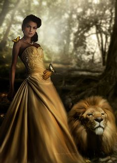 Combines my 2 fave Disney movies. Beauty and the Beast. With a lion for the beast perfect