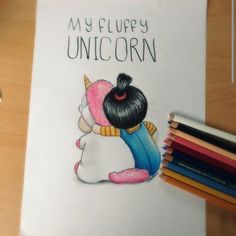 So beautiful me unicorn_.ig for magic unicorn pics! Cute Disney Drawings, Kawaii Drawings, Cartoon Drawings, Easy Drawings, Drawing Sketches, Pencil Drawings, Drawing Disney, Unicorn Drawing, Unicorn Art
