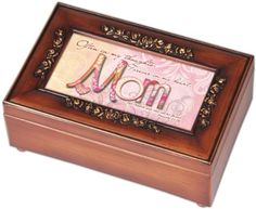 Mom Inspirational Decorative Woodgrain Rose Music Box - Plays Amazing Grace -- Learn more by visiting the image link.