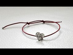 """Amanda"" by Olmox Jewelry, simple and easy to adjust, this leather bracelet includes a handcrafted sterling silver filigree heart, available at www.olmox.com"