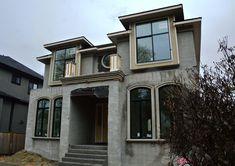Dunbar Vancouver Custom Built Home - Wallmark Custom Homes - Vancouver, Burnaby & North Shore Model House Plan, House Plans, Vancouver, Kerala Houses, Porche, Custom Built Homes, House Elevation, Dream House Exterior, Home Design Plans