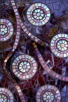 Violet Aspirations Mosaic by Dyanne Williams