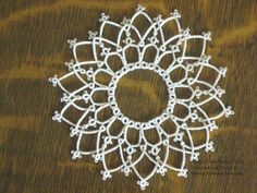 Wanda's Knotty Thoughts: A little bitty doily and a horse