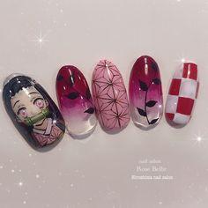 Kawaii Nail Art, Cute Nail Art, Cute Acrylic Nails, Acrylic Nail Designs, Gel Nails, Punk Nails, Swag Nails, Anime Nails, Nagellack Design