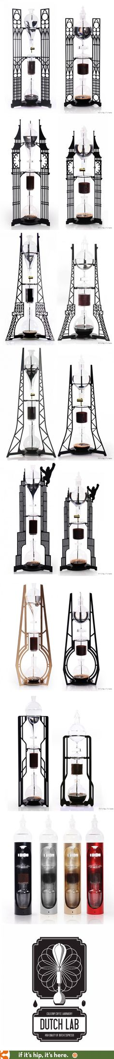 These Architecturally and Movie-inspired Cold Drip Brew Coffee Makers are like Amazing Functional Sculptures.