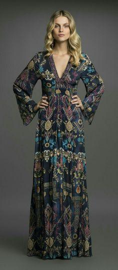 142 ideas for gorgeous long sleeve maxi dresses casual Hippie Stil, Estilo Hippie, Long Sleeve Maxi, Maxi Dress With Sleeves, Sleeved Dress, Ethno Style, Bohemian Style, Boho Outfits, Fashion Outfits