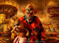 Evil clowns images , tattoos and art designs for Halloween. These are really scary Evil clown pics which can take your breath away for sometime for sure. Arte Horror, Horror Art, Horror Movies, Horror Books, Creepy Carnival, Creepy Clown, Halloween Carnival, School Carnival, Halloween 2013