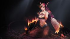 Sexy Girl League of Legends Morgana Wings Instantip 1920x1080