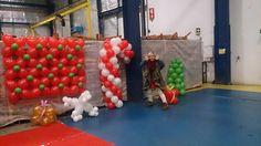 Christmas balloon decoration / decoração de natal com baloes