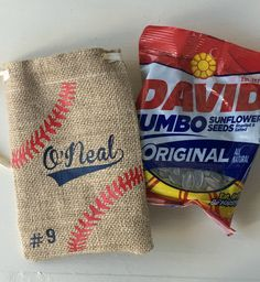Baseball Sunflower Seeds Bag, Personalized Sunflower Seed Bag, Team Party, Baseball Gift, Baseball P Baseball Snacks, Baseball Coach Gifts, Baseball Crafts, Baseball Boys, Reds Baseball, Baseball Season, Baseball Players, Baseball Stuff, Baseball Manager