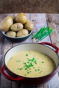 Creamy, savory, and with an (optional!) cayenne kick, this is a twist on a traditional French comfort food. This Creamy Potato Leek Soup is unbelievably easy to make that it's sure to become a staple in your house this winter. Just top with fresh chives and serve warm for a meal your family will love!