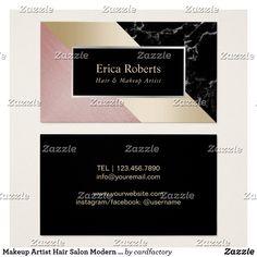 Tarjeta De Visita Mármol color de rosa moderno del oro del salón de