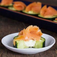 Smoked Salmon Cucumber Bites... Happy Hour Appetizers 12 | Hampton Roads Happy Hour