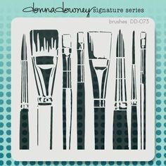 donna downey signature stencils - brushes
