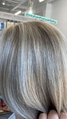 Blonde Hair Going Grey, Brown Hair Going Grey, Purple Grey Hair, Ash Grey Hair, Long Gray Hair, Gray Hair Colors, Going Gray, Silver Hair Highlights, Hair Highlights And Lowlights