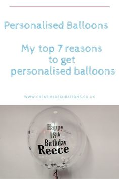 Personalise your Balloons in Bedfordshire - Creative Decorations Clear Balloons, Yellow Balloons, Foil Balloons, Personalised Balloons, Personalised Gin, Gifts For Gin Lovers, Gin Gifts, Balloon Columns, The Balloon