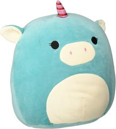 Pillow Pals, Plush Animals, Stuffed Animals, Perfect Christmas Gifts, Animal Pillows, Nursery Decor, Room Decor, Unicorn, Turquoise