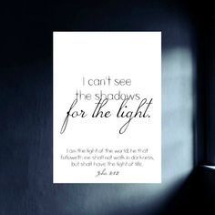 Faith Bible Verse Printable - Christian Wall Print - Digital Image Download - John 8:12 Light of the World