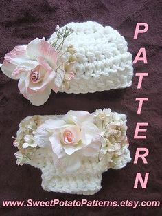 Crochet Pattern -  Baby - Southern Gal Hat and Diaper Cover - SPP-39 the easiest and fastest, Instant Download PDF on Etsy, $3.99