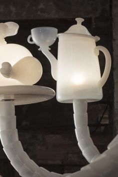Kiki Dining stories chandelier, 2013 (detail) vetro di Murano soffiato a mano, cm 140x140x280