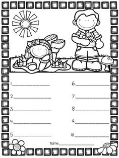 Coloring Page Spelling Tests by Sparkle in Second Spanish Classroom Activities, Preschool Worksheets, Writing Activities, Activity Sheets For Kids, Spelling Test, English Exercises, English Reading, Cute Dinosaur, Teacher Hacks