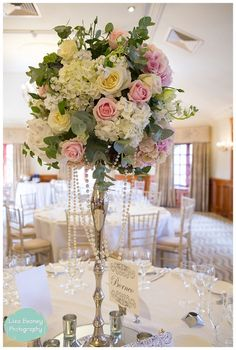 TALL WEDDING FLOWERS TABLE CENTREPIECES - The Fine Flower Company