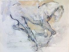 Mixed media 'Contour' Horse' 60x80 cm Pascale Chandler