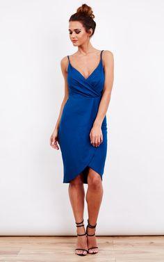 Wrap Over Midi Dress - SilkFred