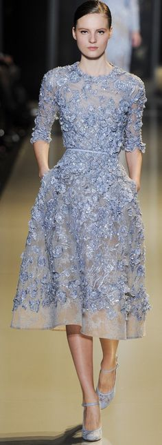 Elie Saab Haute Couture Spring Summer 2013. Very elegant, I could see something like this on Kate Middleton.