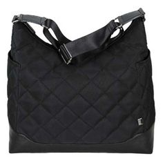 OiOi Black Quilted Hobo - available in store and online at #FabBabyGear #OiOi