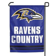 "BALTIMORE RAVENS COUNTRY 11""X15"" GARDEN FLAG BRAND NEW WINCRAFT"
