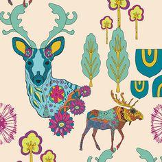 Fabric... Utopia Dreamlandia Illuminated by Art Gallery Fabrics