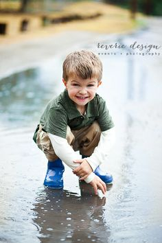 Little Boy Portrait // Little Boy Photography // 4 year old // Boy Pose // Aledo // Texas // Cute Boy // Playing in the rain // Wellies // Aledo Photographer // Fort Worth Photographer // Southlake Photographer