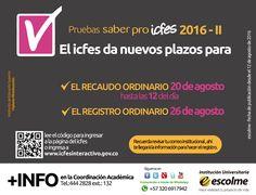 El ICFES informa que se ampliaron las fechas de RECAUDO y REGISTRO ORDINARIO para las pruebas saber Pro.