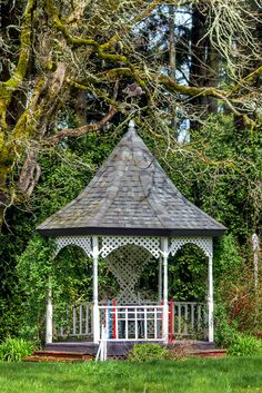 A gazebo- a PERFECT place for the bride and groom to have their first dance as husband and wife<3 I love gazebos!