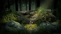 Forest Mushrooms, Josh Russell on ArtStation at https://www.artstation.com/artwork/8P1W6