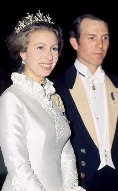 Princess Anne with first husband Captain Mark Phillips