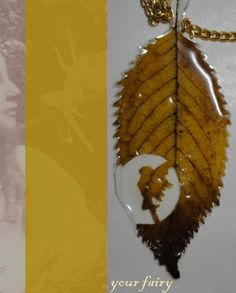 Necklace from natural leaf
