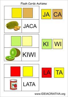 Flash Cards Letra Sílaba Autismo