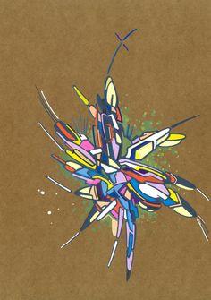 2018-032, par Dominique Vial.  #dessin #art #abstrait #faitMain #2018 #drawing #dessin #colors #couleurs #molotow #marker #marqueur #abstract #artabstrait #abstractart #kraft #acrylic #acrylique