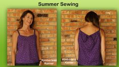 Summer Purple Top - a super simple top made using McCalls 6967 - perfect for hot summer days Summer Tops, Super Simple, Sewing Projects, Summer Dresses, Purple, Hot, Fashion, Moda, Summer Sundresses
