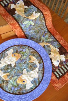 Koiful Consideration table runner and round topper pattern