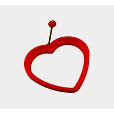 Forma Para Ovo Coração Em Silicone Vermelho
