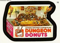 Dungeon Donuts | Wacky Packages Sticker